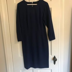 J. Crew structured knit zip dress